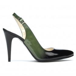 Sandale dama 1249 lac verde+negru