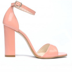 Women sandals 1259 patent pink