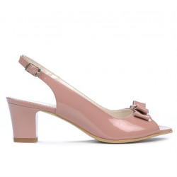 Sandale dama 1251 lac roz pal