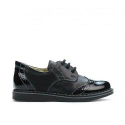 Pantofi copii mici 60c lac negru combinat