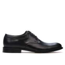 Men stylish, elegant shoes 839 black