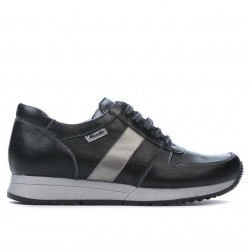 Women sport shoes 679 black+silver