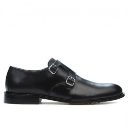 Men stylish, elegant shoes 840 black