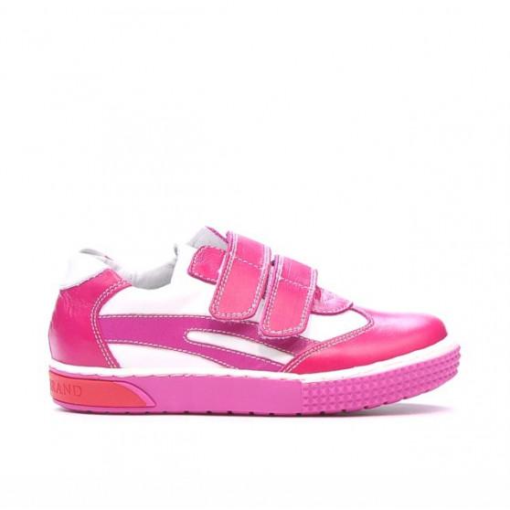 Pantofi copii mici 16-1c roz+alb