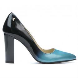 Pantofi eleganti dama 1261 lac bleu+negru