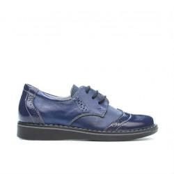 Pantofi copii mici 60c lac indigo combinat