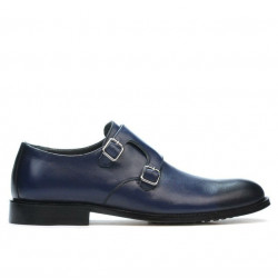 Men stylish, elegant shoes 840 a indigo