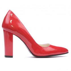 Pantofi eleganti dama 1261 lac rosu