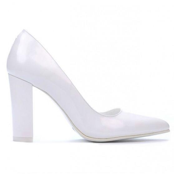 Pantofi eleganti dama 1261 lac alb