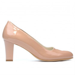 Women stylish, elegant shoes 1209 patent nude