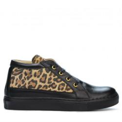 Ghete dama 3290 negru+tigris