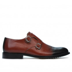 Men stylish, elegant shoes 840 a brown+black