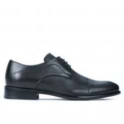 Men stylish, elegant shoes ( large size) 822m black