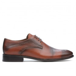 Men stylish, elegant shoes ( large size) 822m a brown