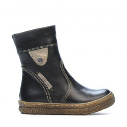Small children boots 34c black+aramiu