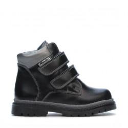 Small children boots 37c black+silver