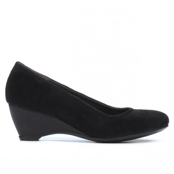 Pantofi casual dama 152-1 negru velur