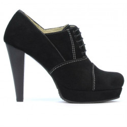 Pantofi eleganti dama 1091 negru antilopa