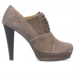 Pantofi eleganti dama 1091 nisip antilopa