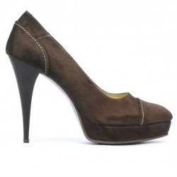 Pantofi eleganti dama 1082 maro antilopa