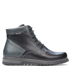 Men boots 497 black+gray