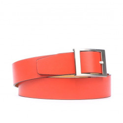 Women belt 02m red coral
