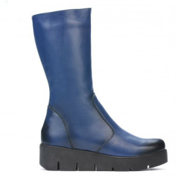 Women knee boots 3315 a indigo