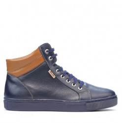 Men boots 4103 indigo+brown