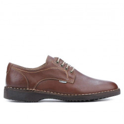 Men casual shoes (large size) 7202m brown