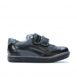 Pantofi copii mici 16-2c negru+gri