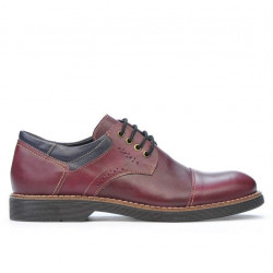 Men casual shoes 848 bordo+indigo