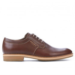 Men stylish, elegant, casual shoes 847 brown