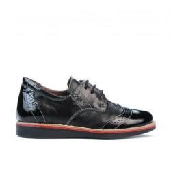 Pantofi copii mici 60c lac negru combinat01