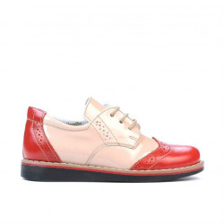 Small children shoes 60c patent red+beige