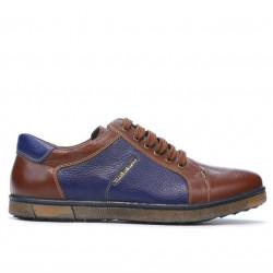 Men sport shoes 849 brown+indigo