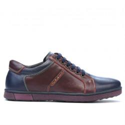 Pantofi sport barbati 849 indigo+bordo