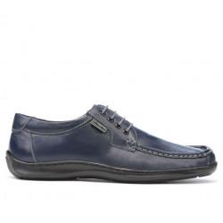 Men loafers, moccasins 818-1 indigo