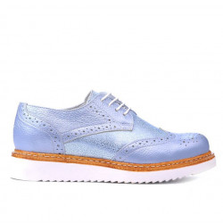 Women casual shoes 663-1 bleu pearl combined