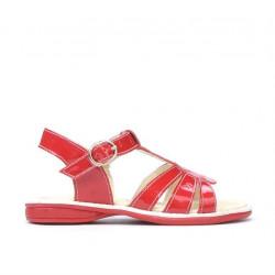 Sandale copii mici 53-1c lac rosu