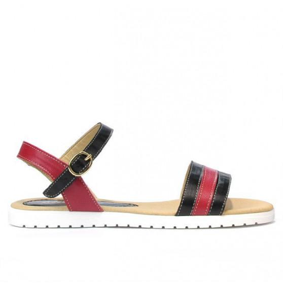 Sandale dama 5037 negru+bordo