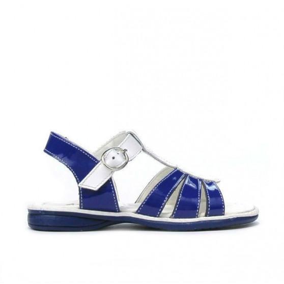Sandale copii mici 53c lac albastru+alb