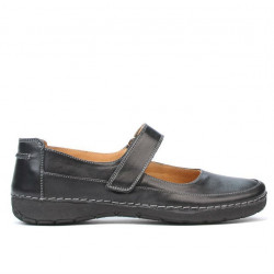 Women loafers, moccasins 685 black