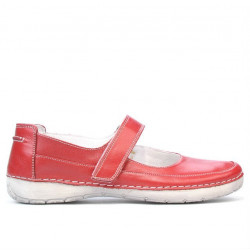 Women loafers, moccasins 685 red