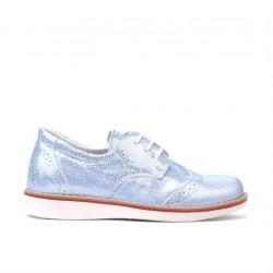 Pantofi copii mici 60c bleu sidef