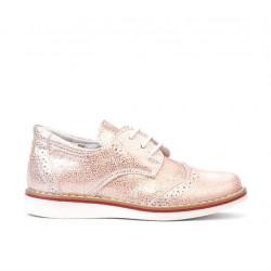 Pantofi copii mici 60c pudra sidef