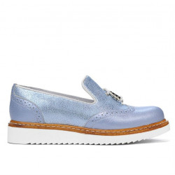 Women casual shoes 659 bleu pearl combined