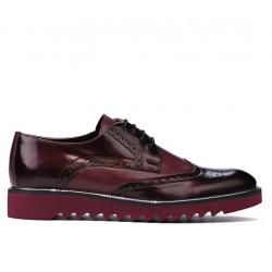 Pantofi casual barbati 831 lac bordo combinat