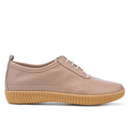 Women loafers, moccasins 688 cappuccino