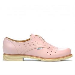 Pantofi casual dama 678 pudra
