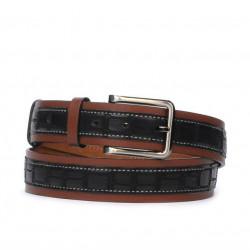 Men belt 18b croco black+brown